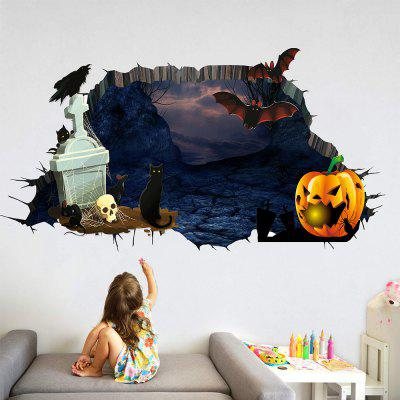 Cartoon Animal Halloween Movable PVC Wall Sticker