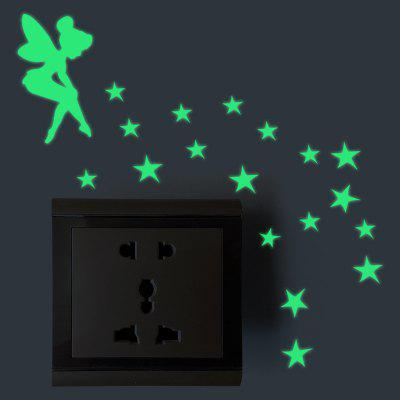 Cartoon Luminous Light Switch PVC Wall Sticker
