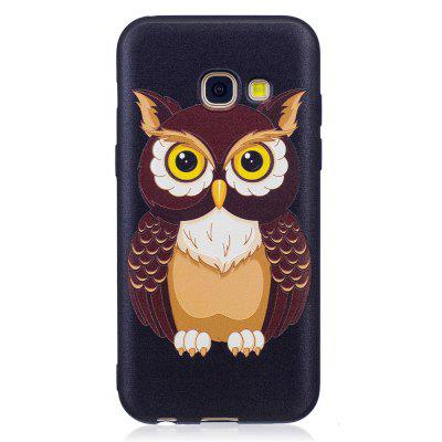 TPU Cartoon Embossed Painted Protective Phone Case for Samsung A3 2017