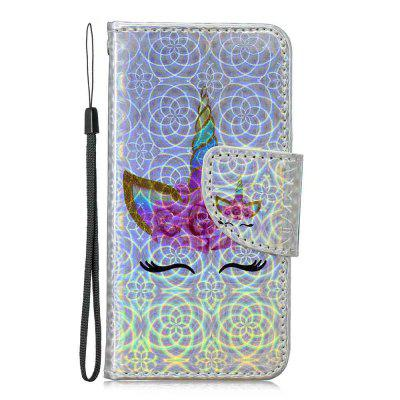 One-horned Cat Laser Colorful Phone Case for iPod Touch5 / Touch6