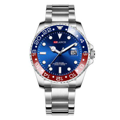 Men's Calendar Luminous Steel Strip Quartz Watch