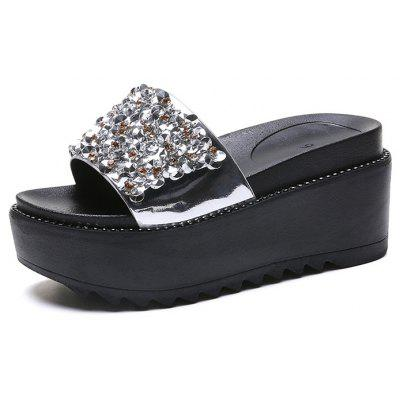 Thick-Bottomed Sequins Casual Fashion Female Slippers