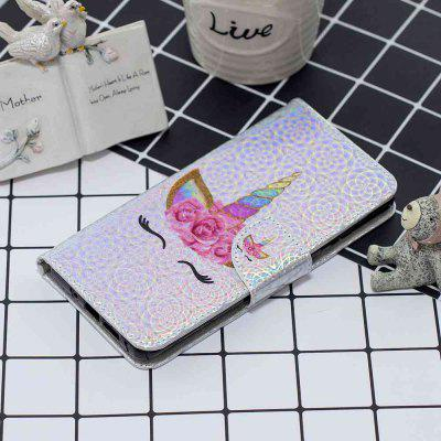 One-Horned Cat Laser Colorful Phone Case for Huawei Y6 2019 / Honor 8A