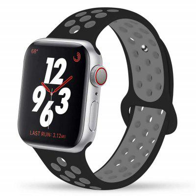 iWatch 44mm / 42mm için spor Silikon Watchband