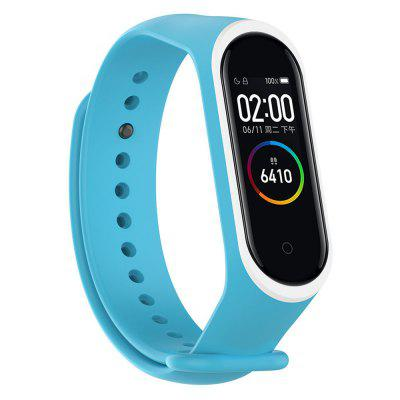Two-color Replace Silicone Strap Smart Bracelet for Xiaomi Mi Band 4