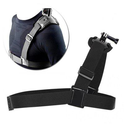 Single Shoulder Chest Strap Mount For Gopro Accessories Adapter