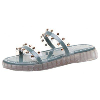 Clear Rivets Casual Fashion Female Slippers