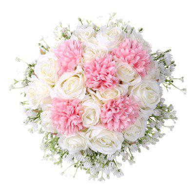 FEIS Exquisite and Noble Rose and Gypsophila Paniculata Wedding Bouquets