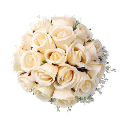 FEIS Fashion Delicate High-Grade Rose and Babysbreath Hand Tied Bouquet