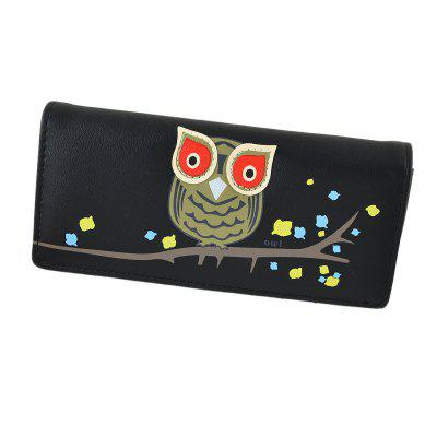 Multicolor Cartoon Owl Long Wallet