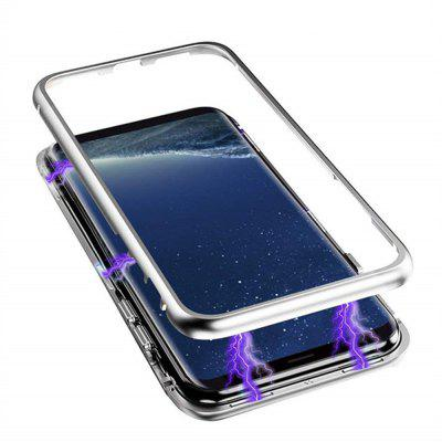 Magnetic Luxury Clear Tempered Glass Flip Phone Case for Samsung Galaxy S9 Plus