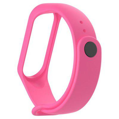 Monochromatic Light Surface Movement Silicone Watch Strap for Xiaomi Band 4