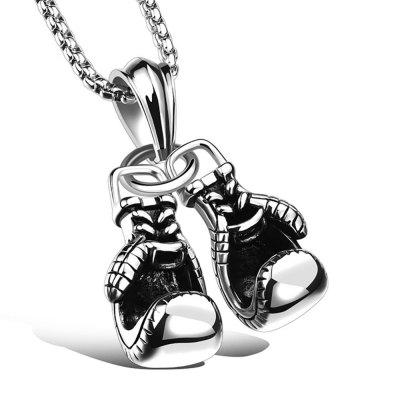 Personality Men's Boxing Gloves Hanging Necklace