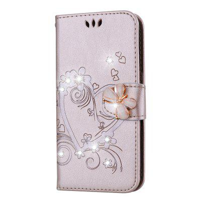 Bling Rhinestone Diamond PU Wallet Phone Case for Samsung Galaxy S9 Plus Case