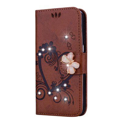 Bling Rhinestone Diamond PU Wallet Phone Case for Samsung Galaxy S5 Mini Case