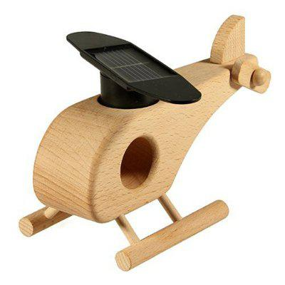 Creative Wooden Solar Helicopter Model Toy