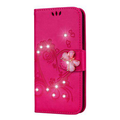 Bling Rhinestone Diamond PU Wallet Phone Case for Samsung Galaxy S7 Case
