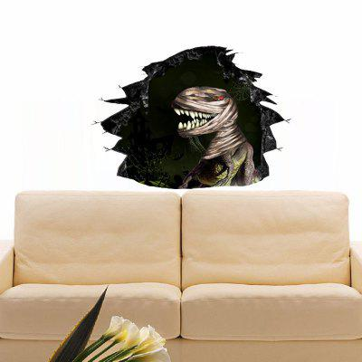 Kreative Mode Halloween 3D Broken Wall Dinosaur Mummy Wandaufkleber