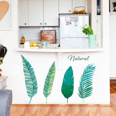 Pegatinas de pared estilo nórdico simple planta fresca verde hojas