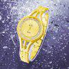 REALY Elegant Lady Quicksand Crystal Stainless Steel Band Women Quartz Watch - GOLD