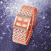 REALY Women Fashion Rhinstone Dial Square Stainless Steel Bangle Quartz Watch - ROSE GOLD