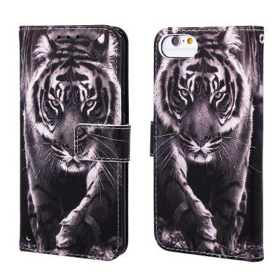 Tiger Pattern PU Leather Wallet Phone Case for iPhone 6 / 6S / 7 / 8