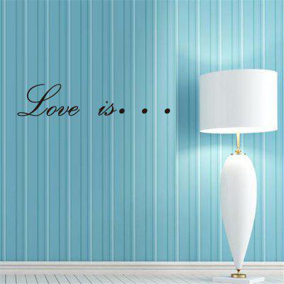 English Rumor Home Decoration Wall Sticker Removable Sticker Black