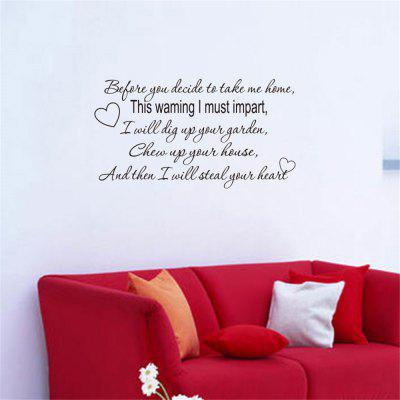 Englische Gerüchte Home Decoration Removable Wall Stickers