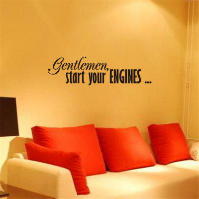 English Rumors Home Decoration Wall Stickers Removable Stickers
