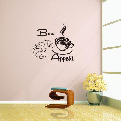 Bon Appetit Coffee Rumours Home Decor Muursticker Verwijderbare Sticker