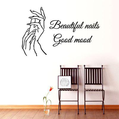 Beautiful Nails Living Room Sofa Background Wall Decoration Wall Stickers Black