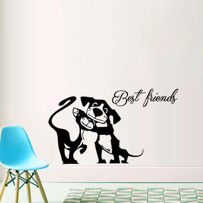 Black Letters Living Room Bedroom Sofa Background Wall Stickers