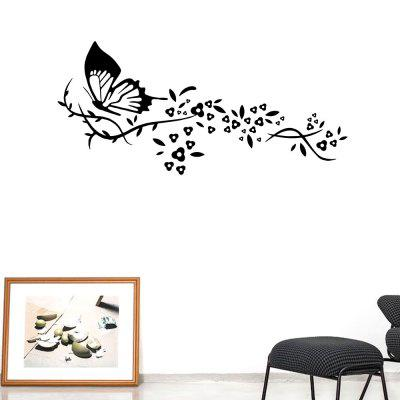 Pansy Flying Salon Chambre Canapé Fond Stickers Muraux Noir