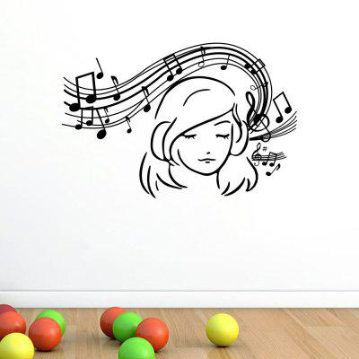 Note Girl Home Living Room Sofa Background Wall Decoration Wall Sticker