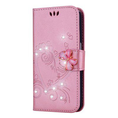 Bling Rhinestone Diament PU Etui na telefon do Samsung Galaxy J2 Pro 2018 Case