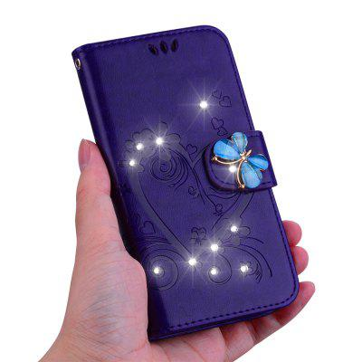 Capa Carteira Diamante Bling Diamante PU para Samsung Galaxy A50
