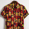 Men's  Summer Indian Ethnic Style Linen Short Sleeve Shirt - MULTI-M