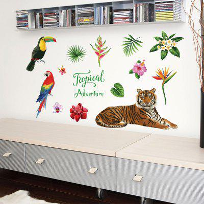 Tropical Tiger Cartoon Home Wall Decoratiuni Wall Decorative Wall Sticker