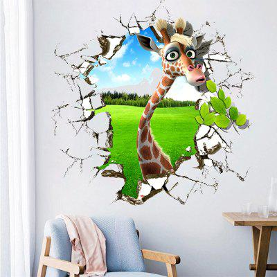 3D Funny Animal Movable PVC Wall Sticker