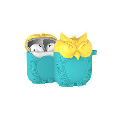 Portable Cute Owl Shape Soft Silicone Shockproof Headphone Case for Airpods