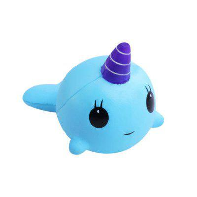 Jumbo Squishy Narwhal Whale Slow Rising Toy
