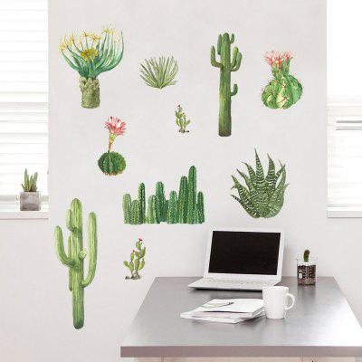 Creative Personality Cactus Plant Home Background Wall Decoration Wall Stickers