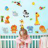 Cartoon Animal StickersHome Background Decorative Wall Stickers - MULTI-A