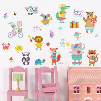 Animale de desene animate Animale de desene animate Home Background Decorative Wall Stickers