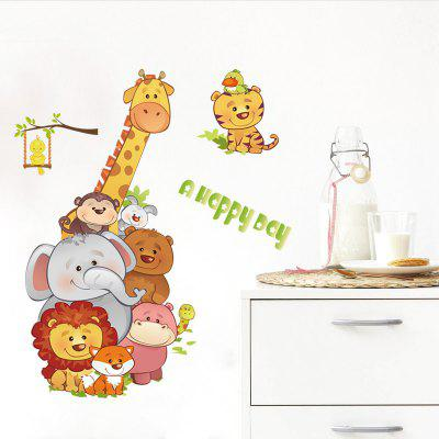 Personnalité Animal Cartoon Home Background Décoration Stickers muraux amovibles