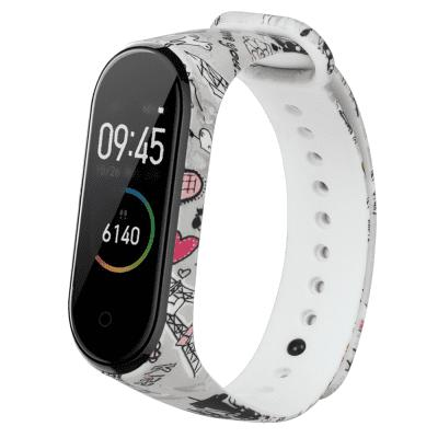 Pulseira De Silicone Colorida Para Xiaomi Mi Band 4 Smart Watch