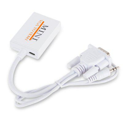 Durable VGA zu HDMI Audio Konvertierung Kabel Adapter mit 1080P Audio Ausgang