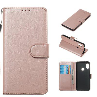 Solid Color Pattern Wallet Leather Phone Case for Xiaomi Redmi 6 Pro / A2 Lite