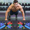 9 in 1 Push Up Rack Board Men Women Comprehensive Fitness Exercise Push-up - BLACK