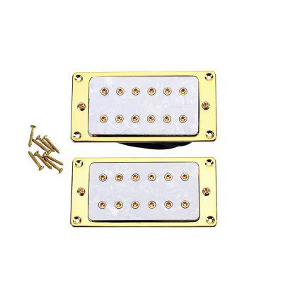 Gold Plated Frame White Pearl Board Dual Pickup